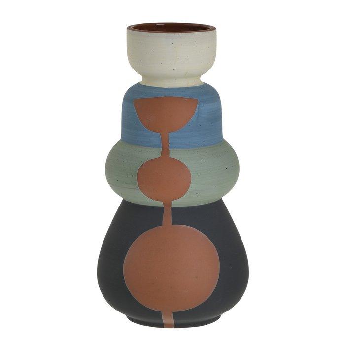 Керамическая ваза с узким горлышком