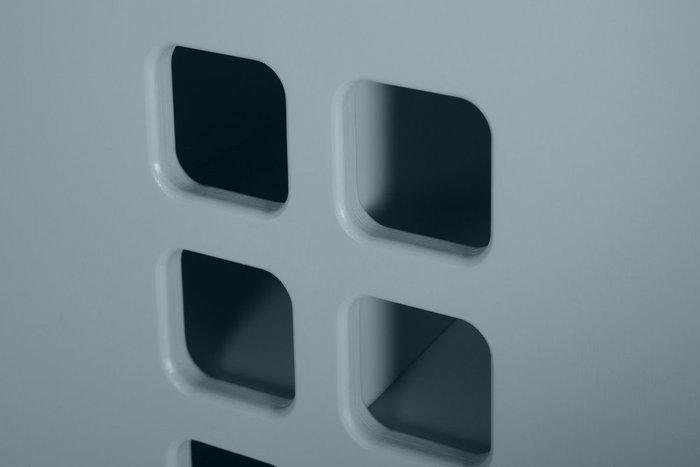 Стеллаж-домик City4 серо-голубого цвета