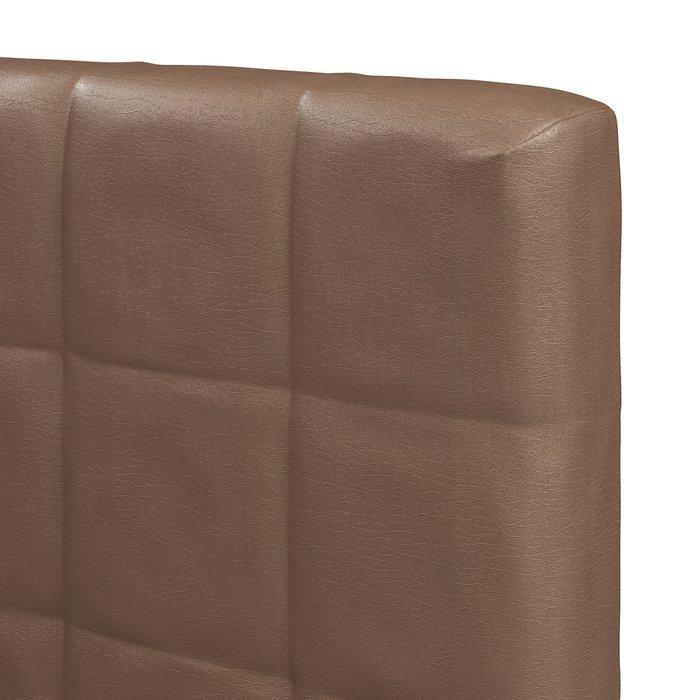 Кровать Магна 160х200 с коричневым изголовьем и подъемным механизмом