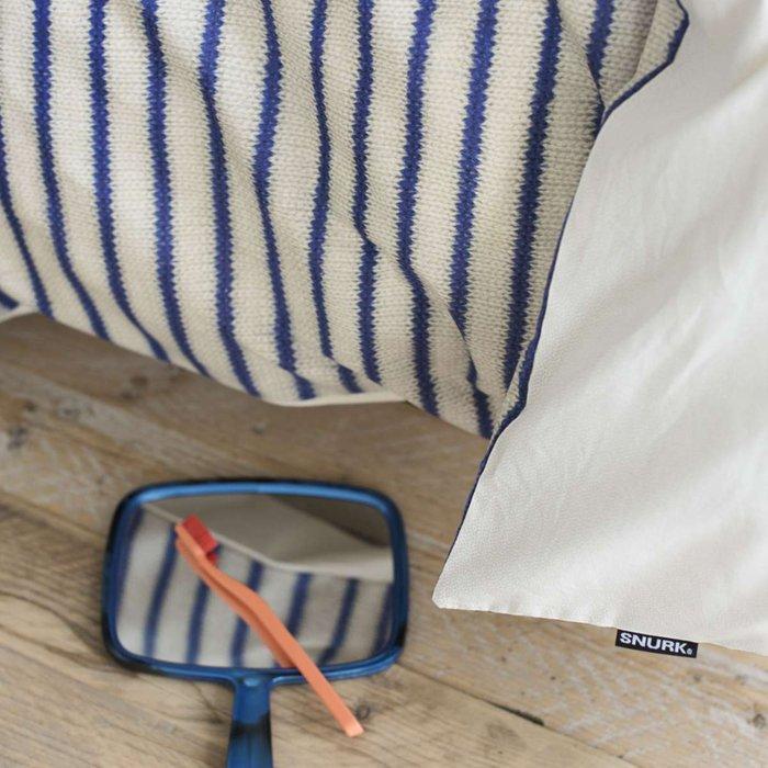 Комплект постельного белья Бретонская полоска 200х220 синего цвета