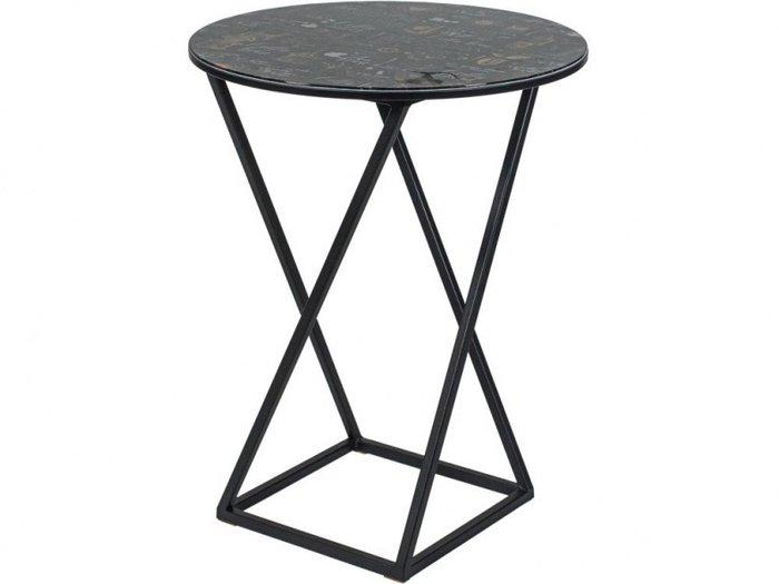 Стол кофейный черного цвета