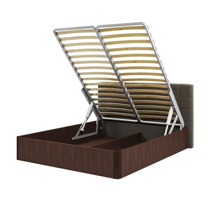Кровать Магна 160х200 с серо-коричневым изголовьем и подъемным механизмом