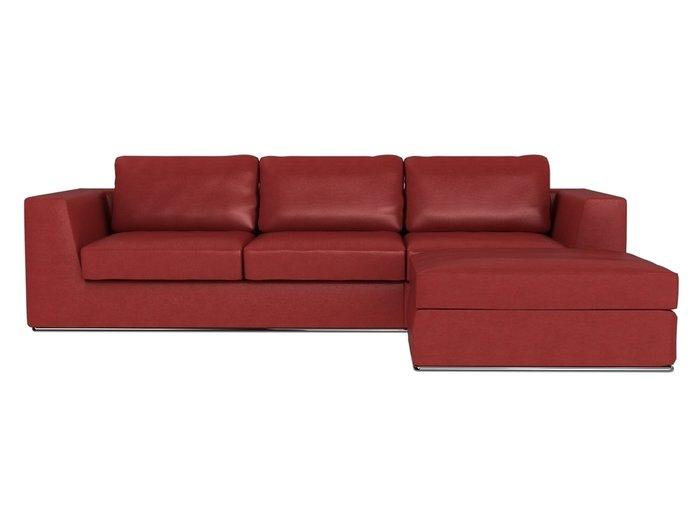 Угловой диван-кровать Igarka красного цвета