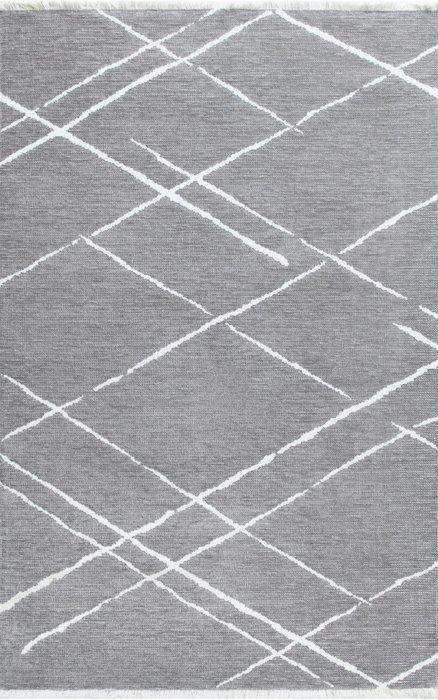 Ковер Nero Tach 80х150 бело-серого цвета