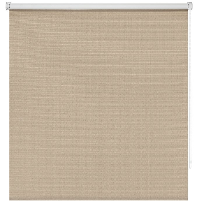 Штора рулонная Блэкаут Шалюр коричневого цвета 200x175