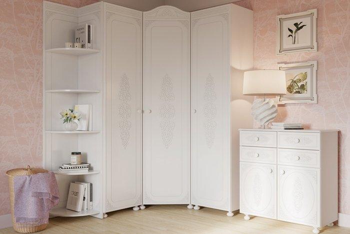 Шкаф Ассоль правый белого цвета