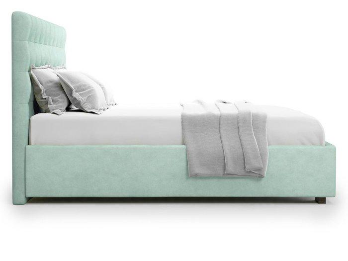 Кровать с подъемным механизмом Brayers 160х200 мятного цвета