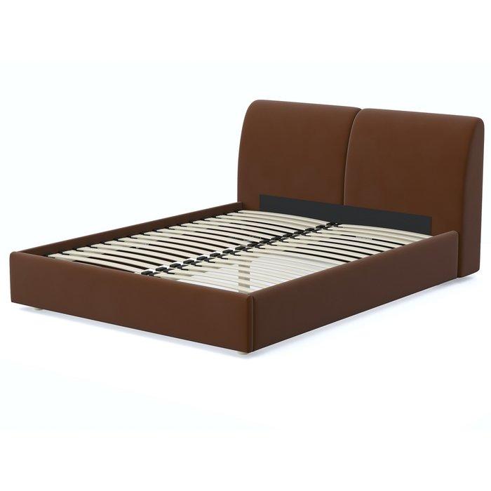 Кровать Бекка 160x200 темно-коричневого цвета