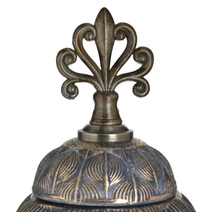 Ваза из металла и керамики с крышкой