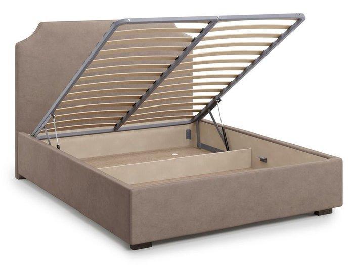 Кровать Izeo с подъемным механизмом 140х200 темно-бежевого цвета