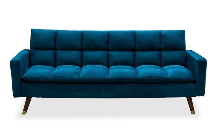 Диван-кровать Felicity темно-синего цвета с коричневыми ножками
