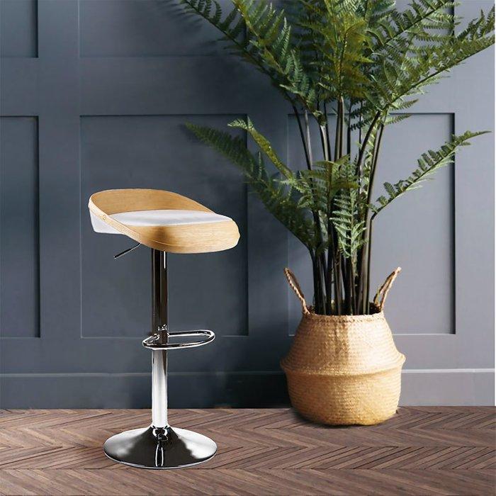 Барный стул Lou ясень chrom