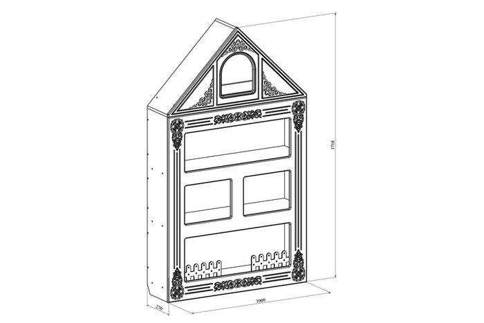 Шкаф-домик детский Ассоль белого цвета