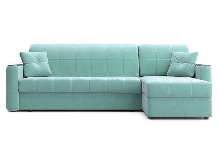 Угловой диван-кровать Ницца мятного цвета