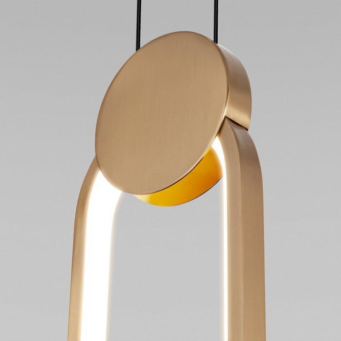 Подвесной светодиодный светильник бронзового цвета