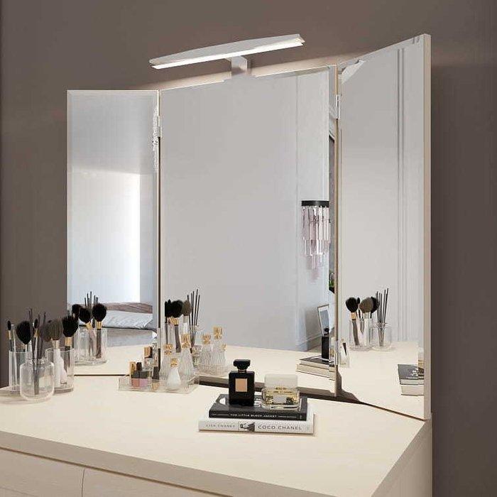 Зеркало-трельяж Орнета цвета Дуб молочный