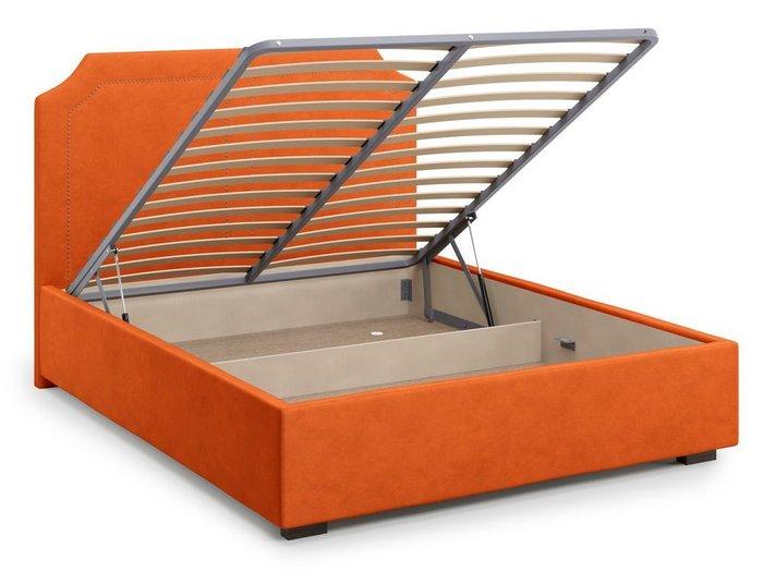 Кровать с подъемным механизмом Lago 140х200 оранжевого цвета