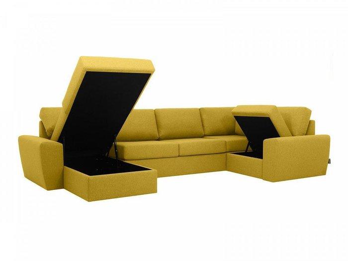 Угловой диван-кровать Petergof желтого цвета