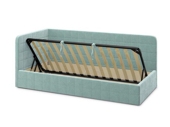 Кровать с подъемным механизмом Tichina left 90х200 мятного цвета