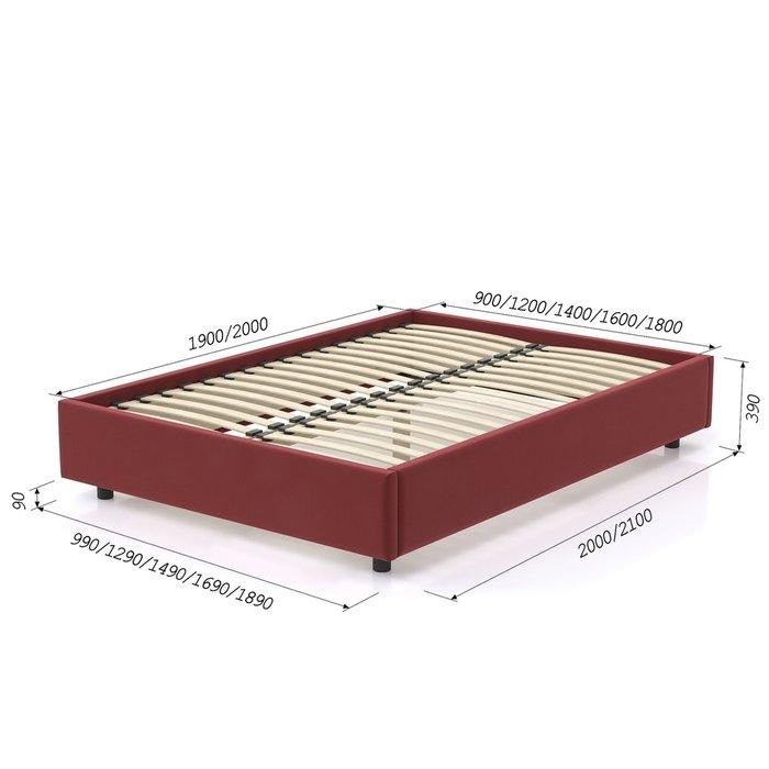 Кровать SleepBox 90x200 темно-красного цвета