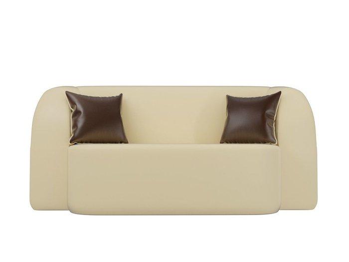 Диван-кровать Томас бежевого цвета (экокожа)