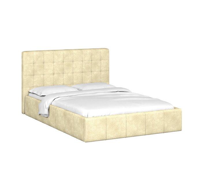 Кровать Инуа 140х200 бежевого цвета с подъемным механизмом