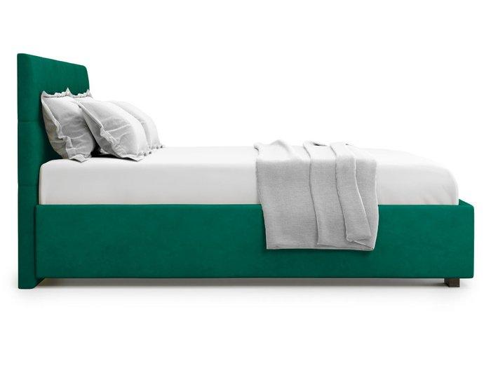 Кровать Garda 160х200 зеленого цвета с подъемным механизмом