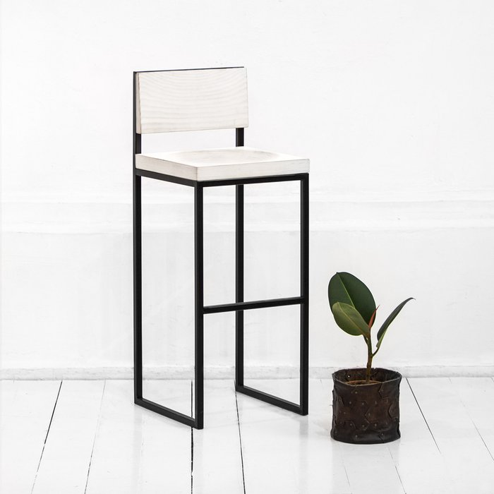 Барный стул Fullmoon в белом цвете