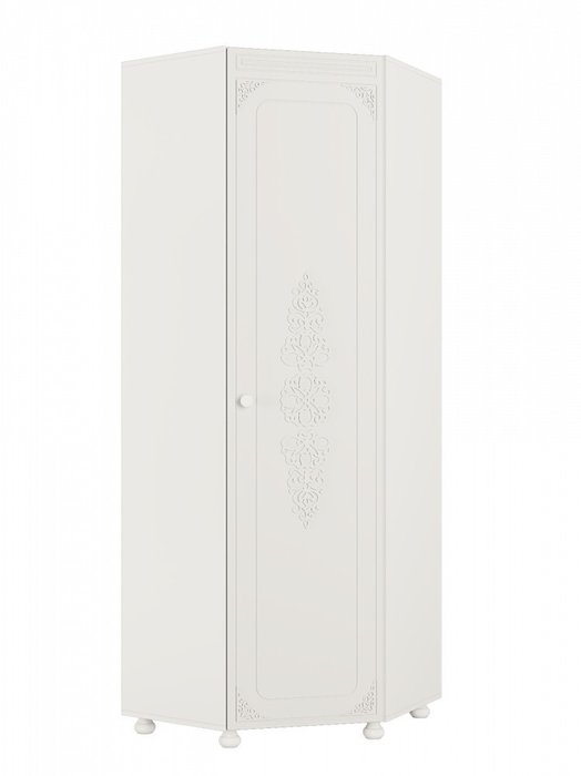 Шкаф угловой Ассоль правый белого цвета
