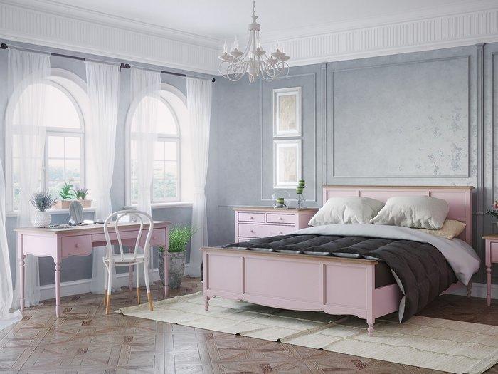 Кровать двуспальная Leblanc c изножьем цвета лаванды 160х200