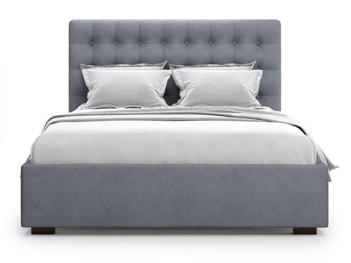 Кровать с подъемным механизмом Brayers 180х200 серого цвета