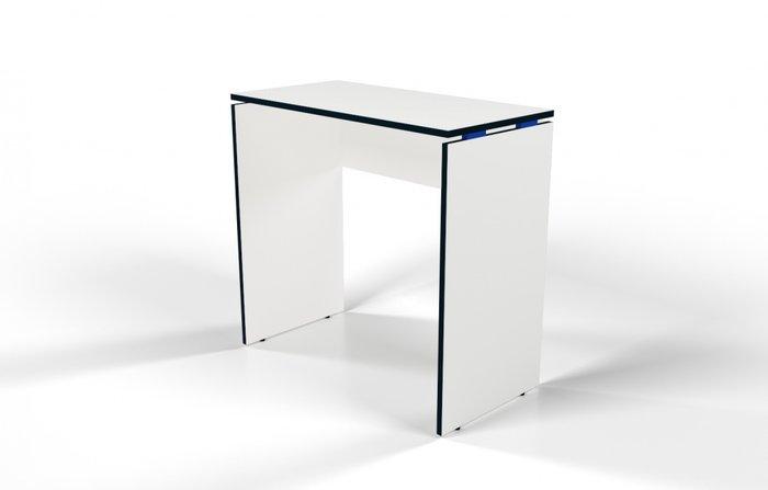 Стол барный белый с синей проставкой
