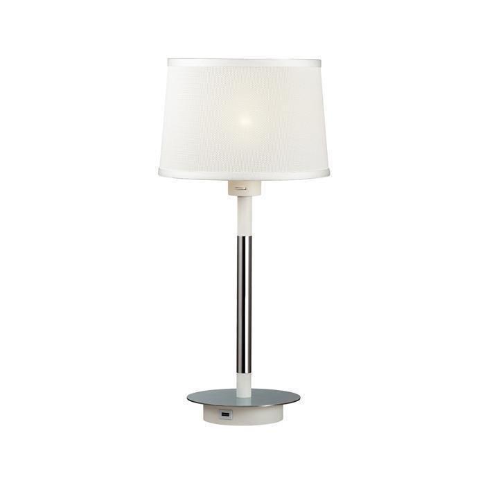 Настольная лампа Loka с белым плафоном