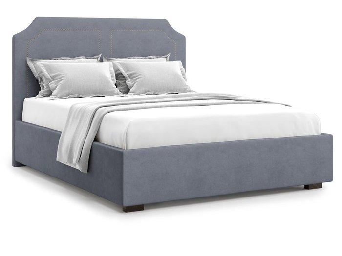 Кровать с подъемным механизмом Lago 140х200 серого цвета