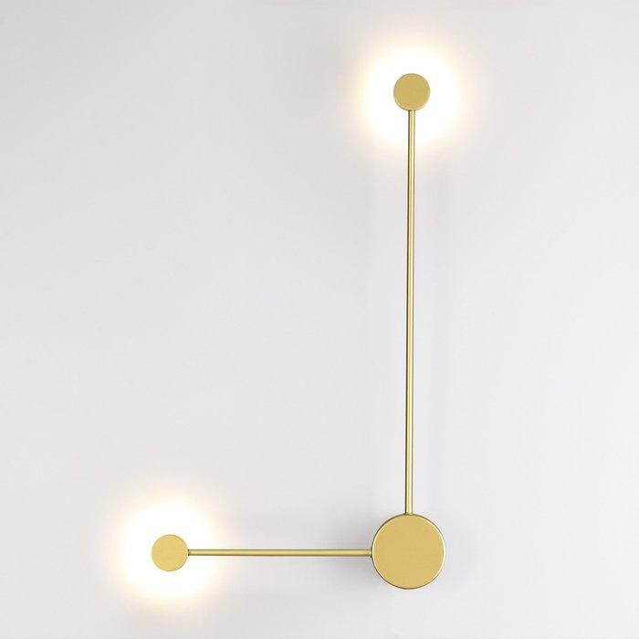Настенный светодиодный светильник Satellite золотого цвета