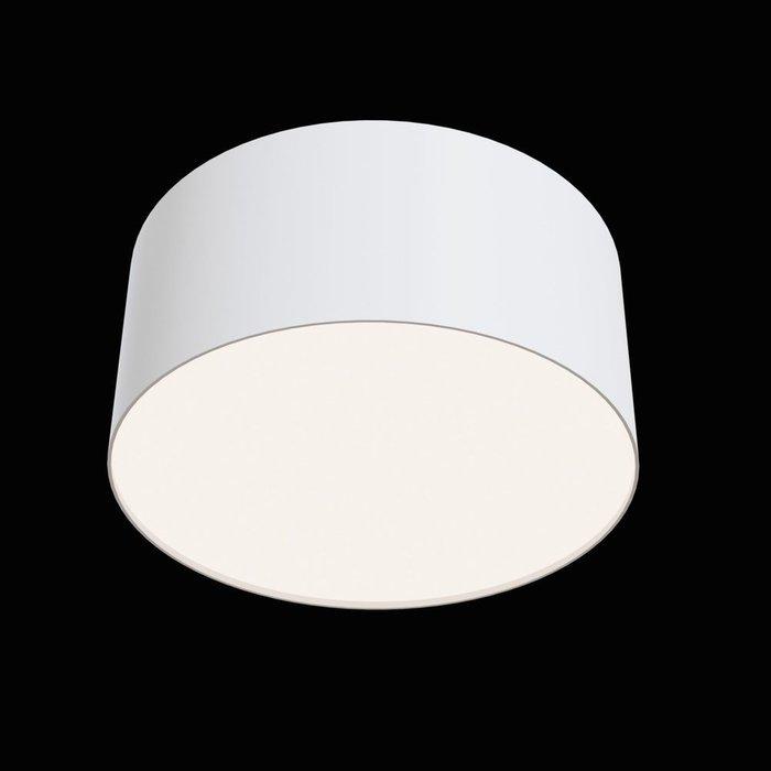 Потолочный светильник Zon из алюминия и пластика белого цвета