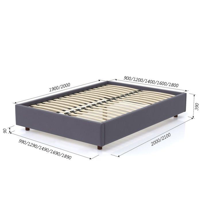 Кровать SleepBox 90x200 темно-серого цвета