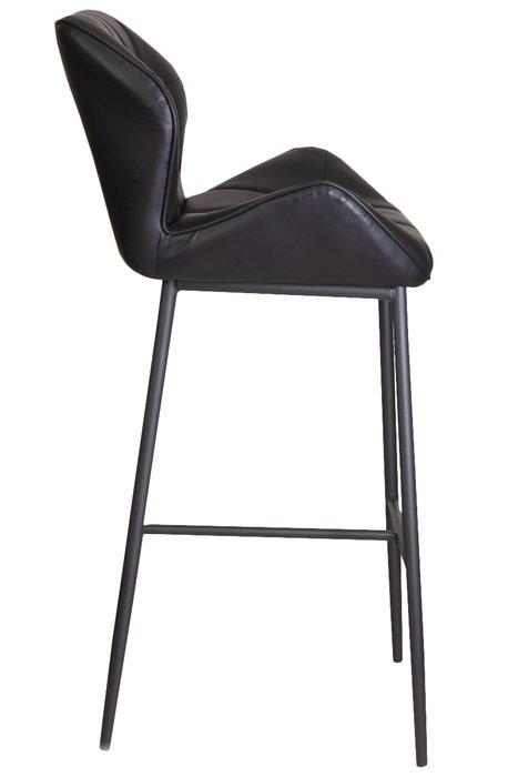Барный стул Lagos черного цвета из экокожи