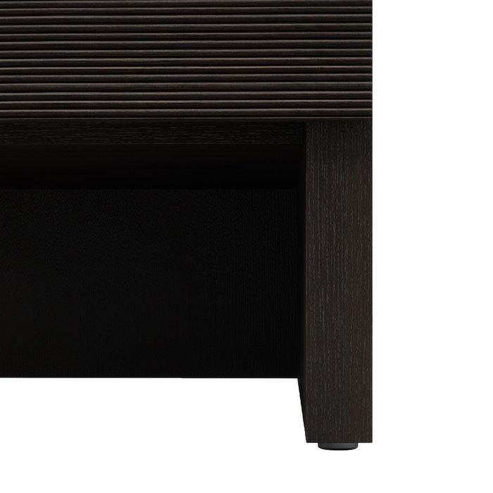 Прикроватная тумба правая Элеонора темно-коричневого цвета