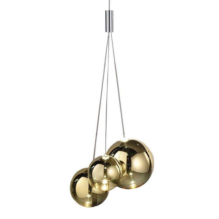 Подвесной светильник из стекла золотого цвета