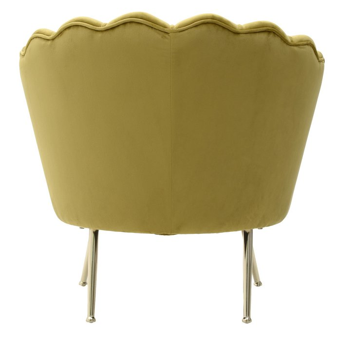 Кресло желто-зеленого цвета