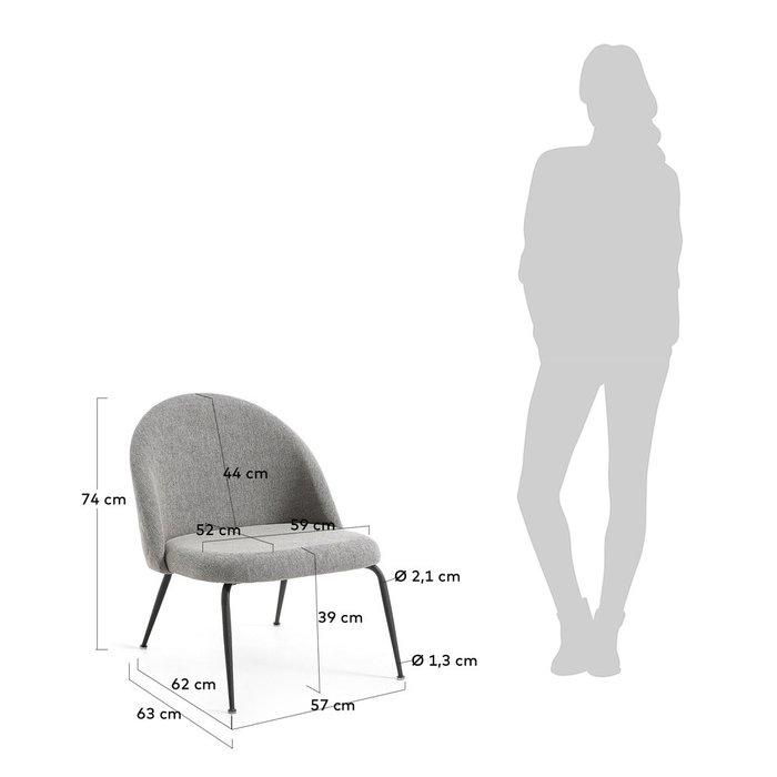 Кресло Mystere серого цвета