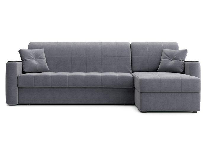 Угловой диван-кровать Ницца серого цвета