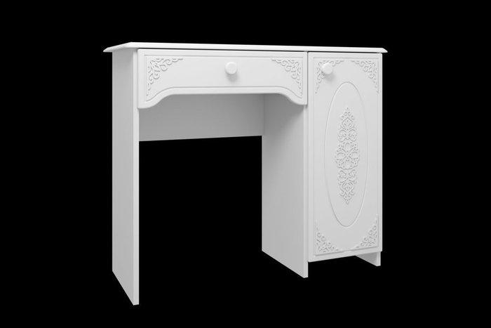 Туалетный столик Ассоль белого цвета с дверцей