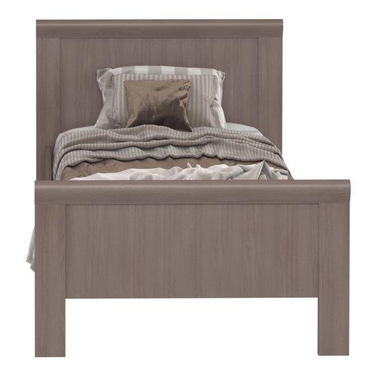 Кровать Магна 90х200 коричневого цвета