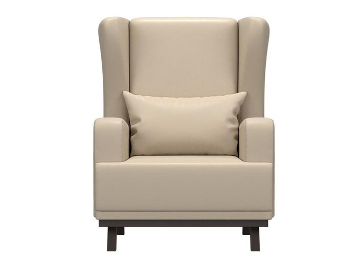 Кресло Джон бежевого цвета (экокожа)