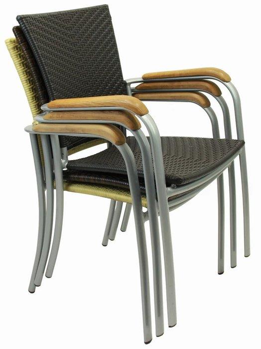 Кресло садовое Aruba коричневого цвета