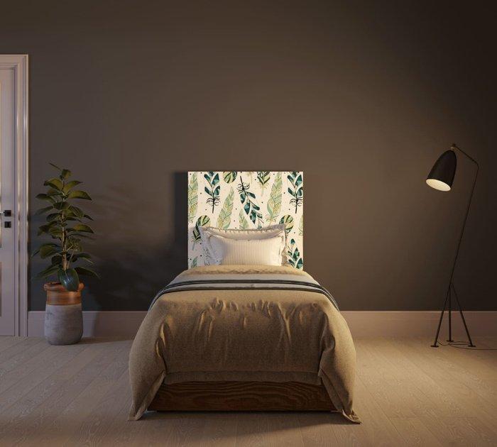 Кровать Berber 90х200 бело-зеленого цвета