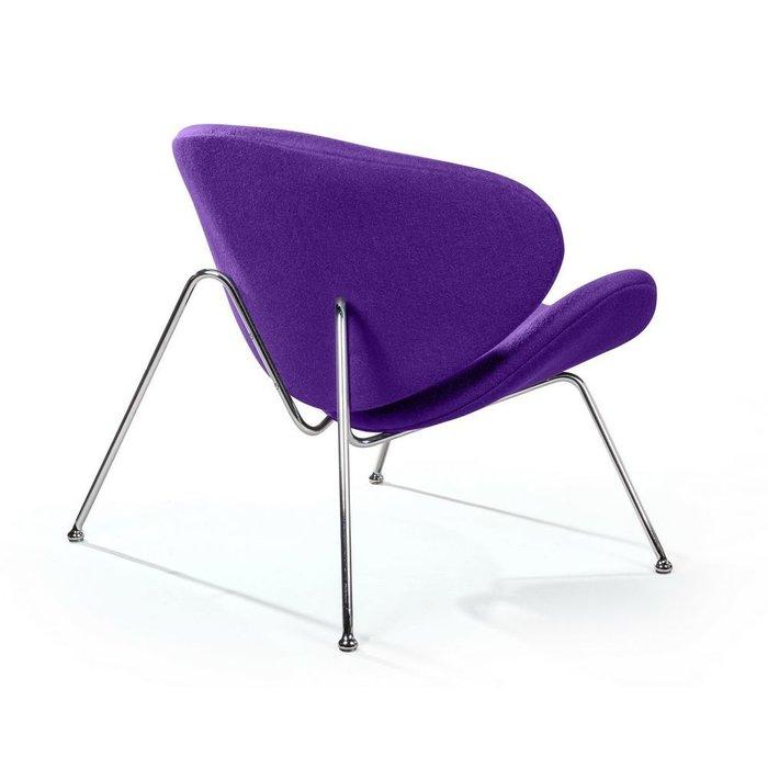 Лаунж кресло Slice фиолетового цвета