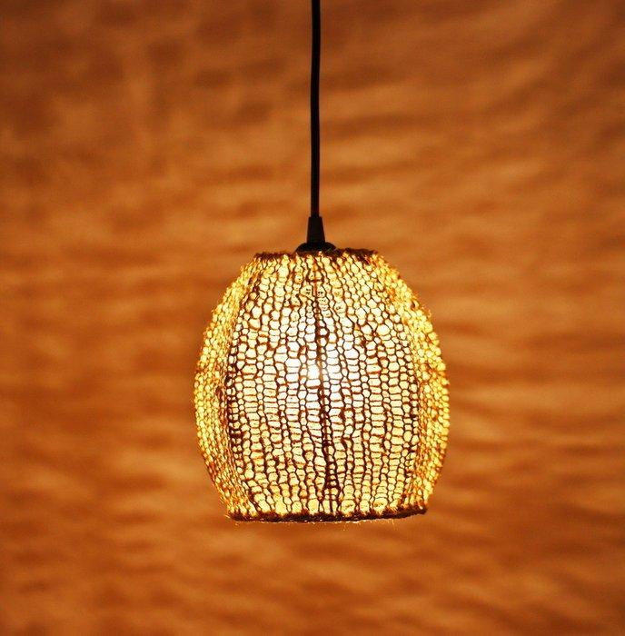 Подвесной светильник Тюльпан Большой из шпагата